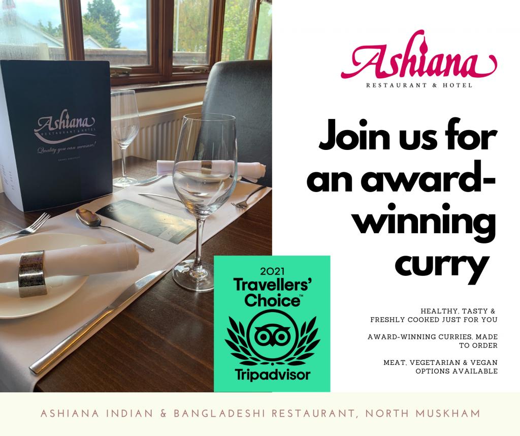 Ashiana Indian restaurant wins Tripadvisor 2021 Travellers Choice Award