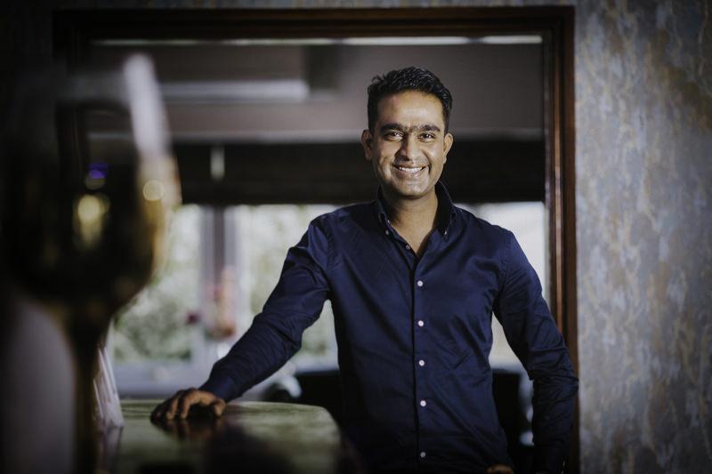 Sai Miah, owner of the award winning Ashiana Indian Restaurant near Newark